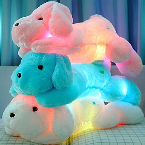 Kreative LED-Nachtlicht Kuscheltiere schöne weiche Spielzeug-Hund Glow Plüschtiere Geschenke für Kinder 50CM