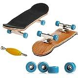Delight eShop Professional Mini Fingerboards/ Finger Skateboard -1 Pack (Light Blue Bearing Wheels)