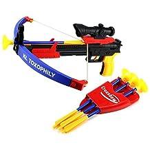 VT Super Outdoor Sport Crossbow Dart Children's Kid's Toy Playset w/ Practice Target, Dart Arrows by TV