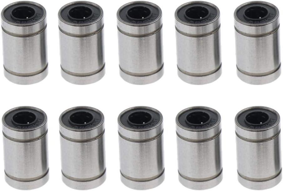 LM6UU 10PCS SM SunniMix Manchons /à Billes Lin/éaires en Acier avec Neuf Mod/èles Disponibles de 3mm /à 20mm
