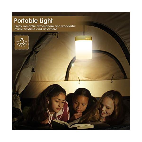 5 EN 1 Lampe de Chevet Tacile Rechargeable Portable,JOLVVN Lampe de Table Enceinte Bluetooth Musique USB FM Radio Réveil Numérique Lumière LED Multicolore Cadeau Hommes/Femmes/Enfants 5