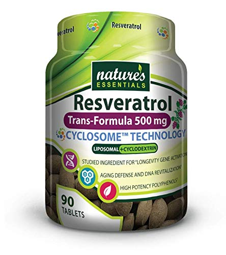 Liposomal Resveratrol | 500mg per Pill | Full-Spectrum Trans-Resveratrol | Maximum Absorption Formula | 3 Month Supply | Non-GMO | Gluten-Free | Vegetarian | Lab Certified | USA ()