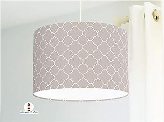 Lampe mit marokkanischem Muster in Taupe als Schlafzimmerlampe Wohnzimmerlampe oder Stehlampe aus Baumwolle - andere Farben möglich