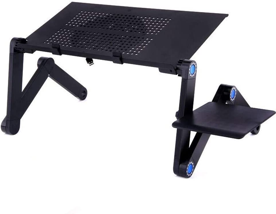ZXC Home Adjustable Laptop Desk Portable Bed Desk Laptop Table for Bed Foldable Laptop Table Height Stand with Mouse Pad Notebook Stand Color : Red Laptop Desk