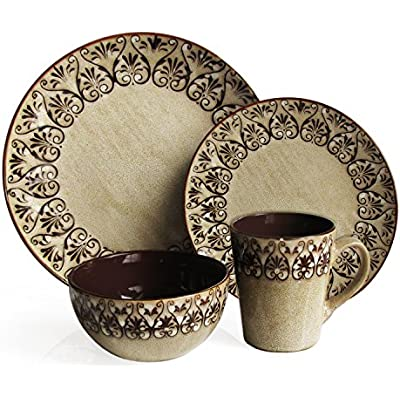 Click for American Atelier Mehndi 16-Piece Round Dinnerware Set