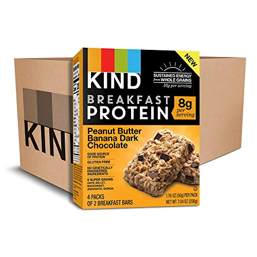 KIND Breakfast Protein Bars, Peanut Butter Banana, Gluten Free, 1.76oz, 32 Count ()