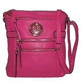 Zippered Cross-body Handbag (Rose), Bags Central