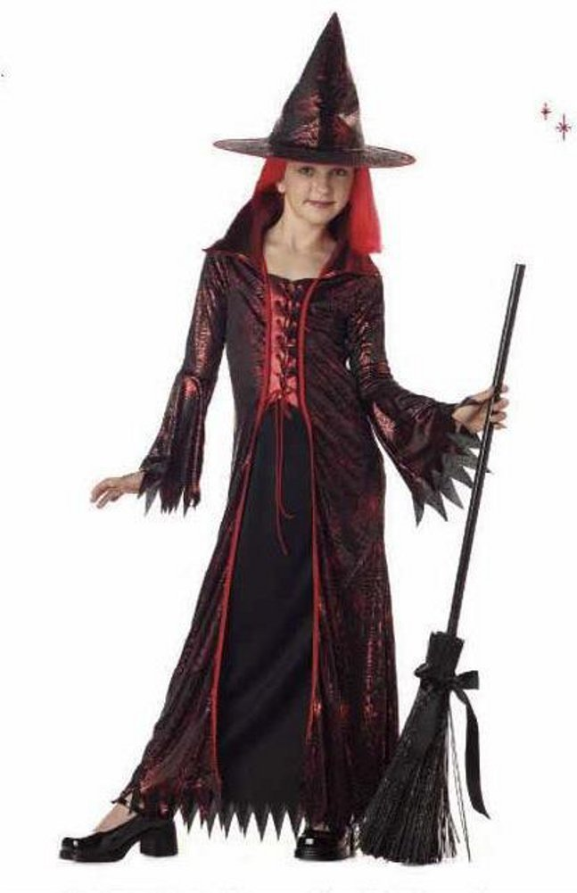 - 514SrNKODTL - California Costumes Devil Witch Child Costume – Red/Black