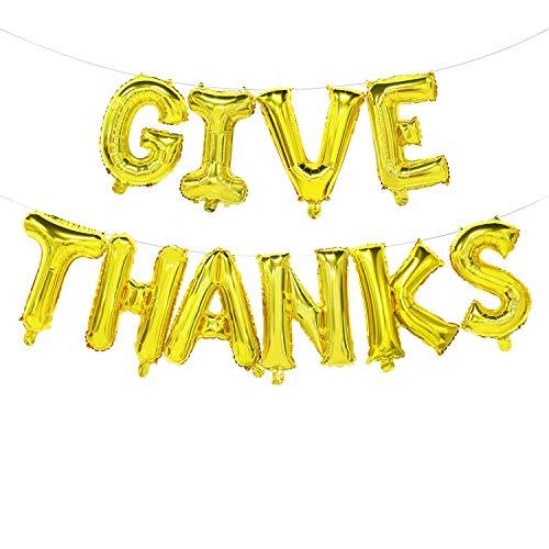Give Thanks Balloon Banner | Thanksgiving Mylar Balloons