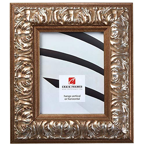Craig Frames 8081 16 by 20-Inch Picture Frame, Ornate Finish, 3.6-Inch Wide, Antique Silver Leaf ()