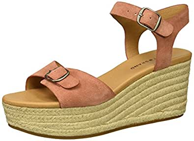 Lucky Brand Women's Naveah Espadrille Wedge Sandal, Canyon Rose, 5 M US