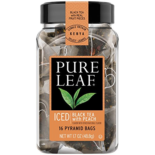 Pure Leaf Iced Tea Bags, Black Tea with Peach 16 ct, 6 pack