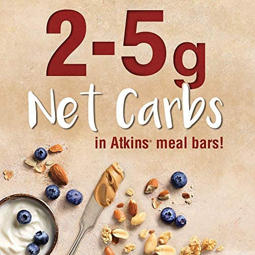 Atkins Protein Meal Bar, Chocolate Almond Caramel, Keto Friendly, 5 Count 5
