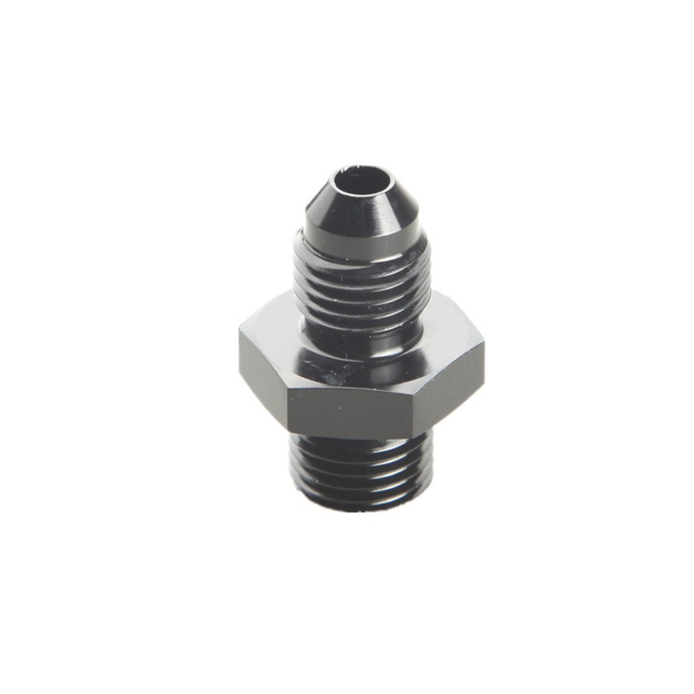 Metric Straight Flare Male Fitting Adapter Black 8AN AN-8 To M12 x 1.25 mm