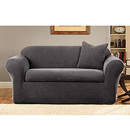 loveseat slipcover brushed slipcovers free shipping garden product home classic today twill overstock
