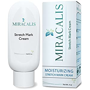 Miracalis - Stretch Mark Cream - Scar / Blemish Removal & Prevention. Firms, Sculpts & Tones Slackened Skin. Effective for Women, Men & Body Builders.Vitamin E, Aloe, Shea Butter & Natural Ingredients