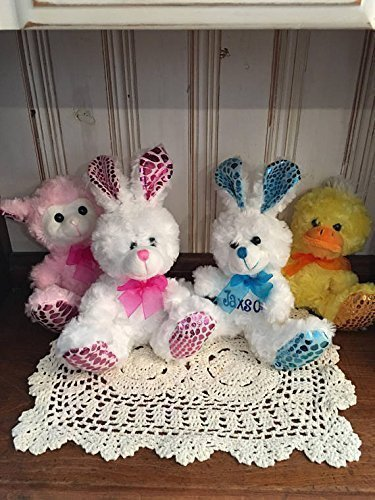 Personalized Easter Bunny (Adorable Personalized | Small Easter Plush | Big Foot | Bunny | Lamb | Duck | Stuffed Toy)