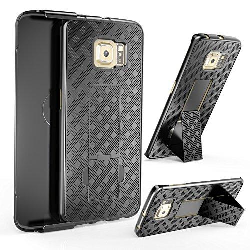360 Degree Hard Plastic Case for Samsung Galaxy S6 Edge (Gold) - 2