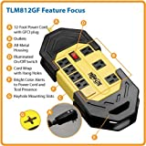 Tripp Lite 8 Outlet Safety Power Strip, 12ft Cord with GFCI 5-15P Plug, Hang Holes (TLM812GF)