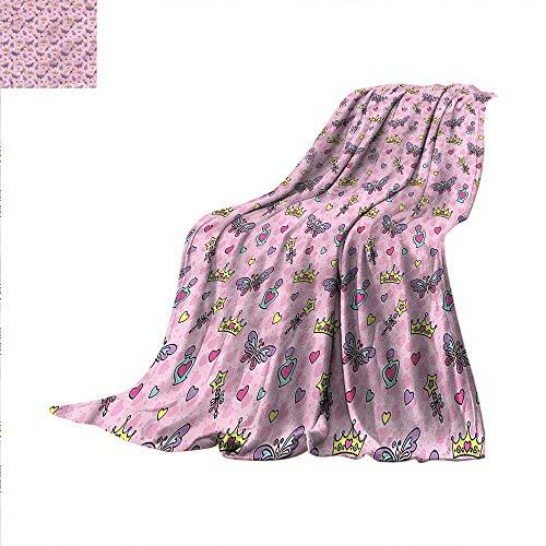- Princess Digital Printing Blanket Wands Crowns Butterflies Summer Quilt Comforter 80