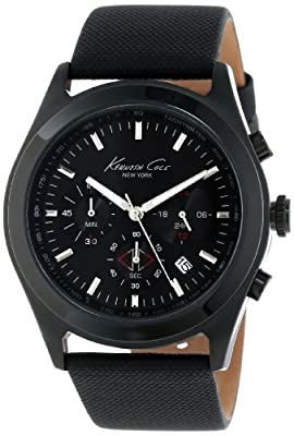 Kenneth Cole New York Men's KC1901 Dress Sport Round Black IP Case Chronograph Watch