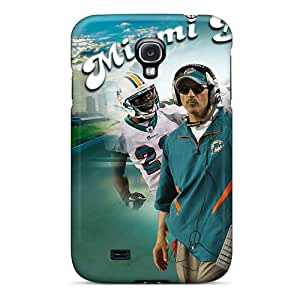 Samsung Galaxy S4 OBx17619mpNN Special Colorful Design Miami Dolphins Skin Scratch Protection Hard Phone Cases -JasonPelletier