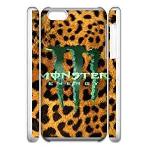 iphone6 Plus 5.5 3D Cell Phone Case White Monster Energy Plastic Durable Cover Cases derf6976976