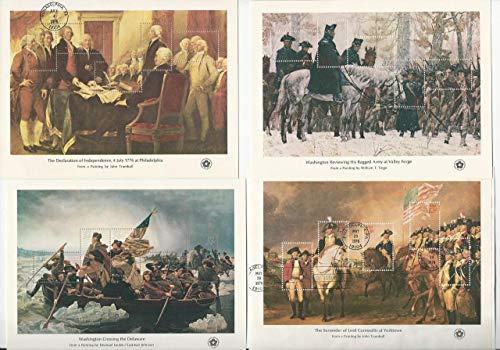 United States, Postage Stamp, 1686-1689 Used Sheets, 1976 Washington