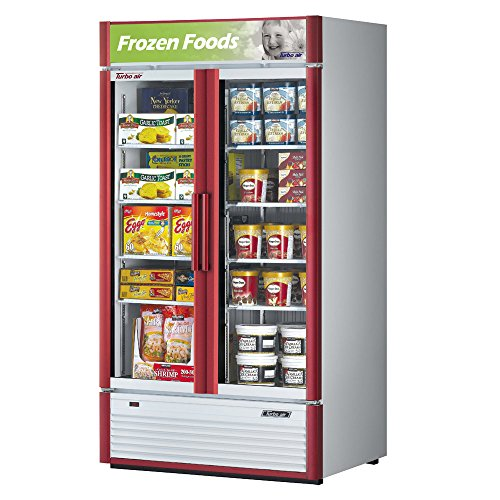 Turbo Air TGF-35SD Glass Swing Door Two Section Reach-In Merchandiser Freezer by Turbo Air (Image #1)