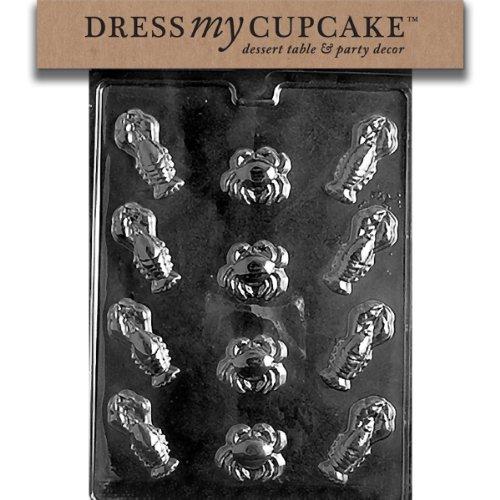 Dress My Cupcake DMCN004 Chocolate Candy Mold, Lobster Assortment, ()
