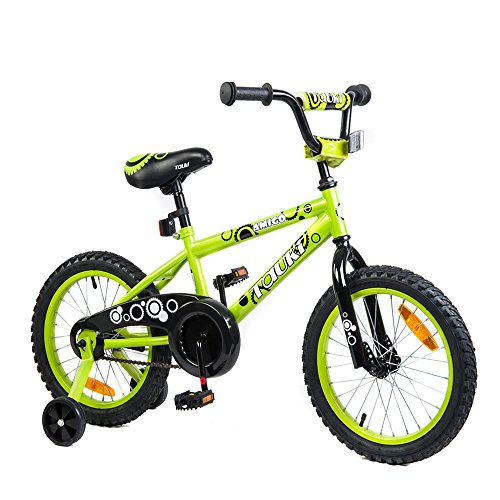 Tauki Kid Bike BMX Bike for Boys and Girls, 16 Inch, Lime, 95% assembled, for 4-8 Years Old, Gift for kids (Old 6 Bicycle Years)