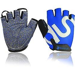Boodun Cycling Gloves Breathable Bike Gloves Sport Gloves for Men or Women (Blue, S)