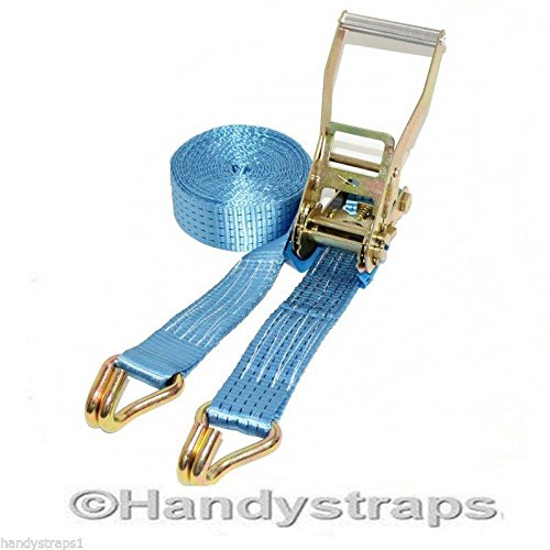 4 meter x 50mm Blue Ratchets Tie Down Straps 5 tons Lorry Lashing HandyStraps