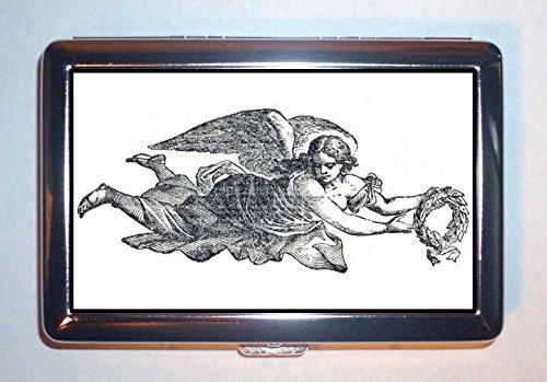 アンティークFlying Angel Victorianゴシックアート:ステンレススチールIDまたはCigarettesケース( Kingサイズまたは100 mm )   B00RSN87W0