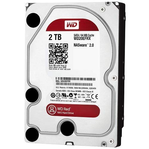WD Red 2TB NAS Hard Drive - 5400 RPM Class, SATA 6 Gb/s, 64 MB Cache, 3.5