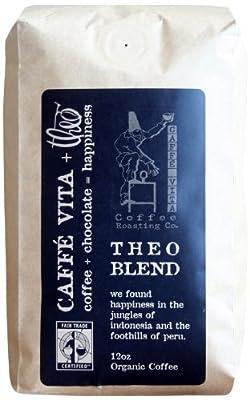 Caffe Vita Theo Blend, Fair Trade, Whole Bean Coffee (Medium Roast), 12 oz. by Caffe Vita