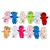 Neliblu 1 Dozen 8'' Super Soft Plush Bear Toys By Stuffed Bears - Stuffed Animals - Animal Themed Party Favors, Prizes, Day Care Toys, Stocking Stuffers - Educational Toy