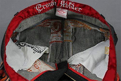 Colour La Pantalones Hop Mezclilla Suave Hip Impresión Vendimia Los Sueltos Ocio Jean Cómodo De Moda Cómodos Hombres Battercake Vaqueros qfcwUdXX