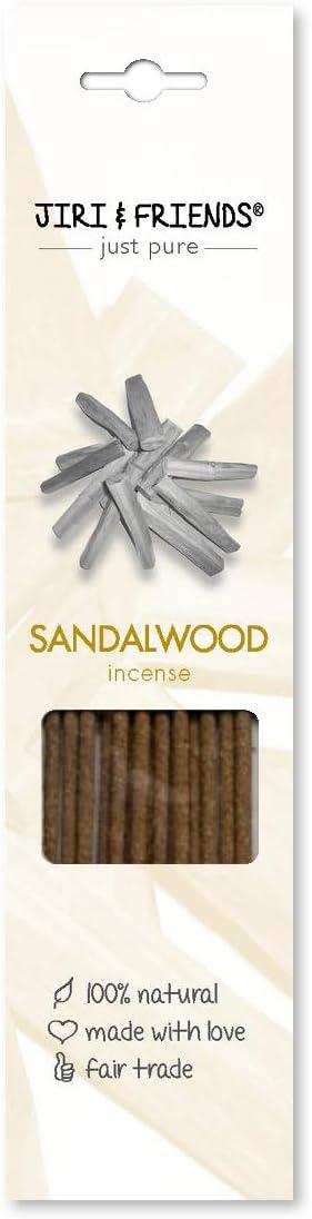 Varillas de incienso (madera de sándalo, 100 % natural, comercio justo, 15 unidades)