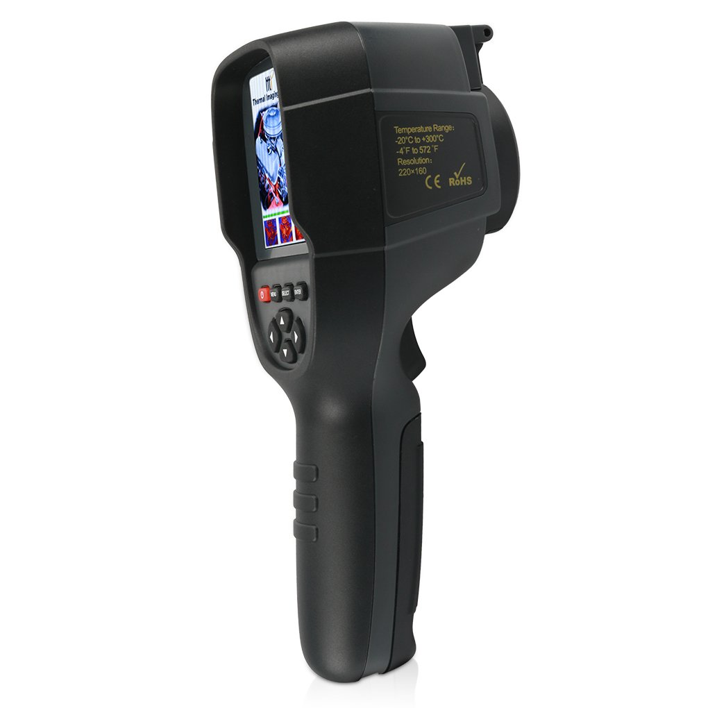 220 x 160 IR Resolution Infrared Thermal Imager, Handheld 35200 Pixels Thermal Imaging Camera HT18,Infrared Thermometer with 3.2'' Color Display Screen(Battery Included)