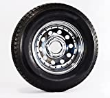 Radial Trailer Tire & Rim ST205/75R14 Load C 5 Lug Chrome Mod w/Rivets 57895