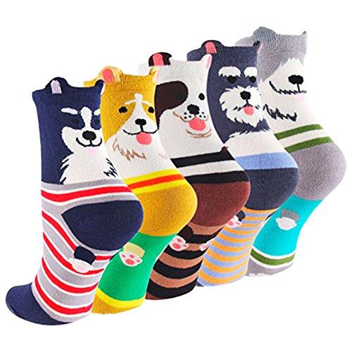 SockStory Happy Colorful SOCKS for Girls, Socks for Women, Unisex Socks, Socks for Guys. Cute Rich Cotton One Size Dog Socks.