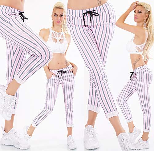 Rosa Donna Pantaloni Italia Shocking Moda wqEtx