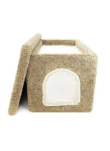New Cat Condos Premier Litter Box Enclosure, Brown