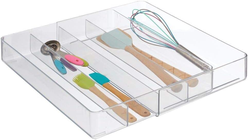 mDesign Organizador de cubiertos para la cocina – Cubertero ...