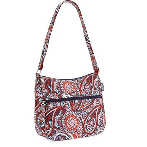 Waverly Women's Hobo Handbag Purse Bag - Cotton / Quilted Design (Mint / Red (Quilted Design)