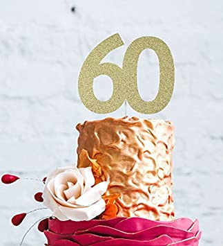 Number 60 Cake Topper Large
