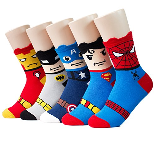 Socksense Super Heros Series Women's Socks 5pairs(5color)=1pack Made in Korea