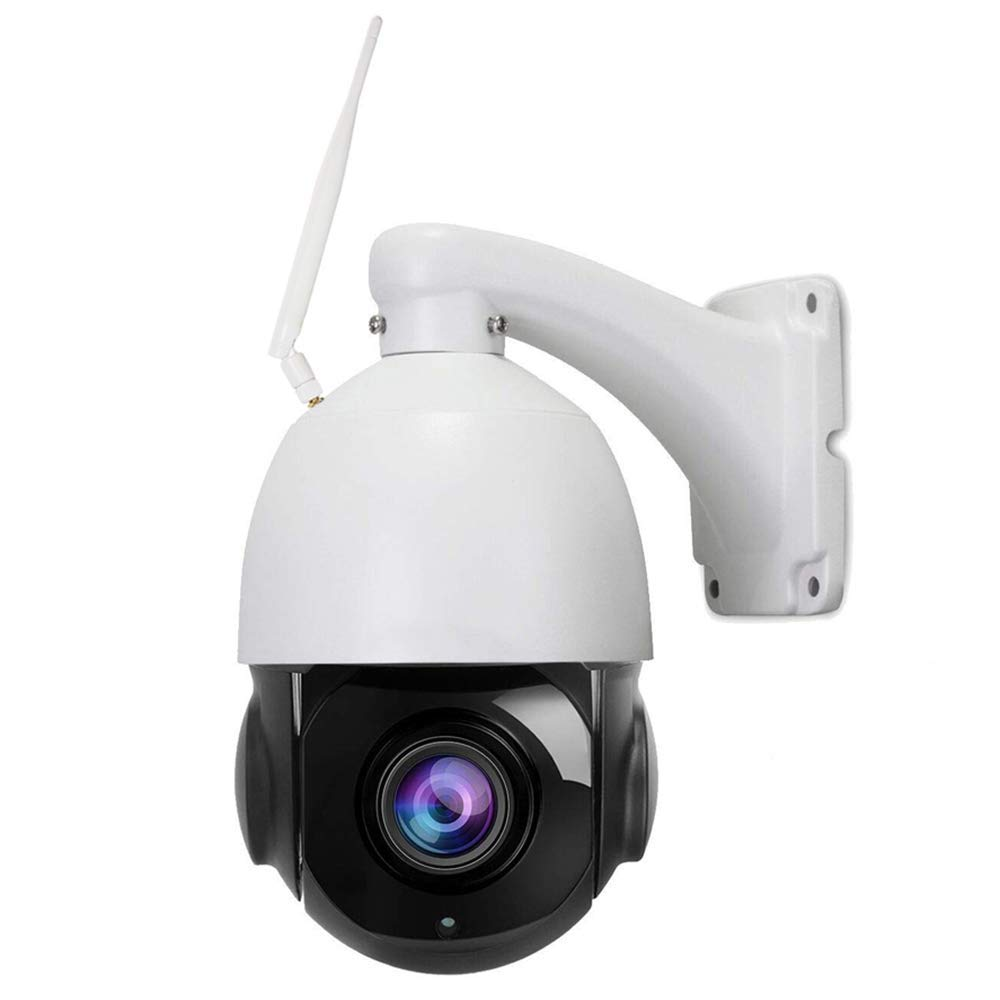 Outdoor PTZ 2.4G WiFi Security Camera Wireless Surveillance HD 1080P Pan Tilt 20X Optical Zoom 200ft Night Vision Two-Way Audio IP66 Weatherproof Motion Detection E-Mail Push Alerts AT-500PW