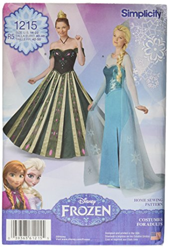 [Simplicity Creative Patterns 1215 Misses' Frozen Costumes, R5 (14-16-18-20-22)] (Costumes By Dusty)